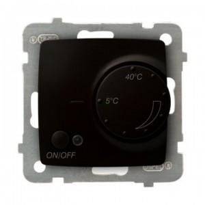 Ospel Karo RTP-1SN/m/40 - Regulator temperatury z czujnikiem wewnętrznym, pokojowy - Czekoladowy Metalik - Podgląd zdjęcia producenta