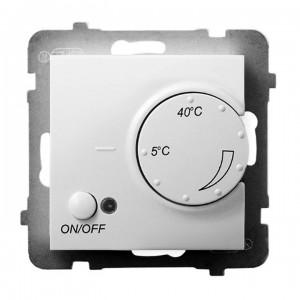 Ospel Aria RTP-1U/m/00 - Regulator temperatury z czujnikiem zewnętrznym, sonda w zestawie - Biały - Podgląd zdjęcia producenta