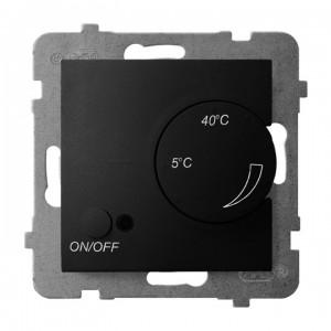 Ospel Aria RTP-1U/m/33 - Regulator temperatury z czujnikiem zewnętrznym, sonda w zestawie - Czarny Metalik - Podgląd zdjęcia producenta