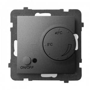 Ospel Aria RTP-1UN/m/70 - Regulator temperatury z czujnikiem wewnętrznym, pokojowym - Szary Mat. - Podgląd zdjęcia producenta