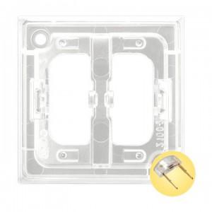 Ospel Aria ZP-2UG - Przezroczysty zespół podświetlający do łączników 1 i 2-klawiszowych typu LED w kolorze Złotym - Akcesoria - Podgląd zdjęcia producenta