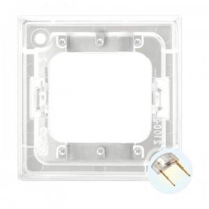Ospel Aria ZP-4UB - Przezroczysty zespół podświetlający do łączników 3-klawiszowych typu LED w kolorze Białym - Akcesoria - Podgląd zdjęcia producenta